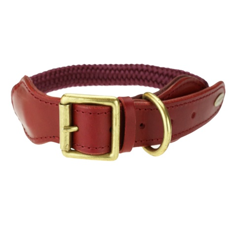 Cecily Dog Collar - Burgandy