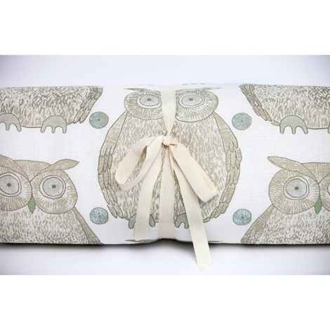 Owl Motif Dog Roll Bed - Cream 2
