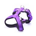 2.5cm Width Fleece Comfort Dog Harness – Purple