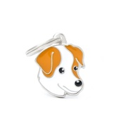 My Family - Jack Russell Engraved ID Tag – Brown