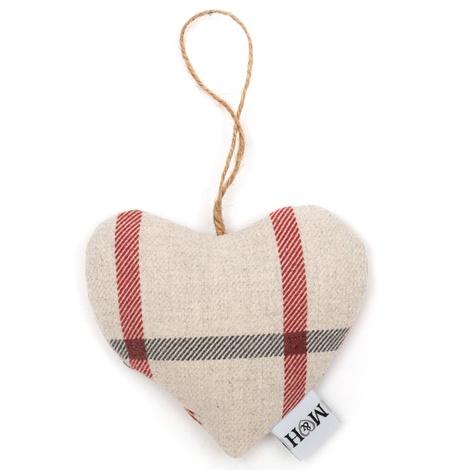 Nottingham Check Lavender Heart