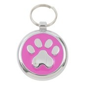 Tagiffany - Smarties Pink Paw Pet ID Tag