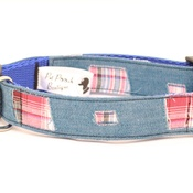 Pet Pooch Boutique - Denim Patch Collar
