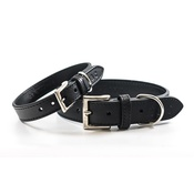 Ralph & Co - Leather dog collar (Sorrento) - Charcoal
