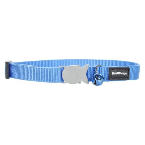 Plain Medium Blue Cat Collar