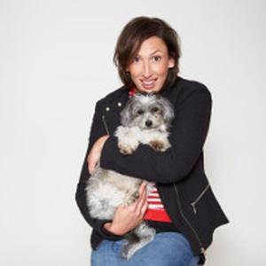 Comedian Miranda Hart & her Shih Tzu/Bichon Frise Peggy