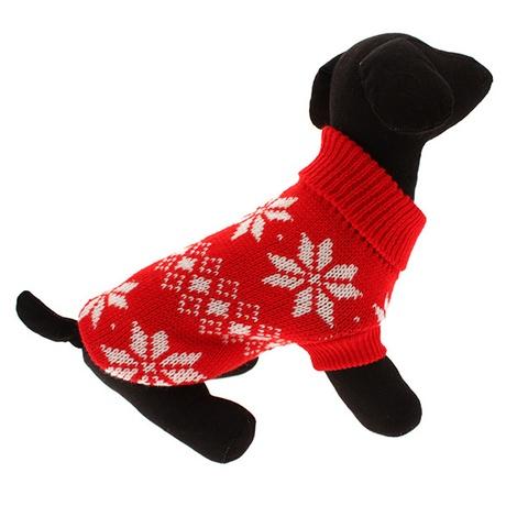 Red Snowflake Dog Sweater 4