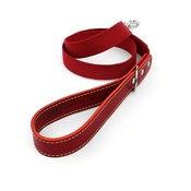 The Leather Dog Co - Red Cotton Webbing Dog Lead