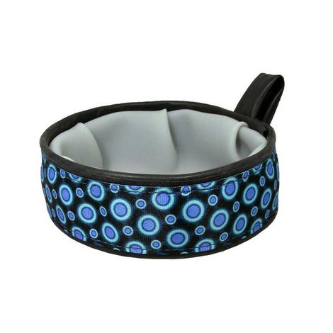 Trail Buddy Pet Travel Bowl – Blue Space Dots