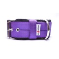 4cm Width Fleece Comfort Dog Collar – Purple