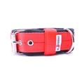 4cm width Fleece Comfort Dog Collar - Red