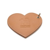 Hiro + Wolf - Leather Heart Poo Bag Pouch - Tan