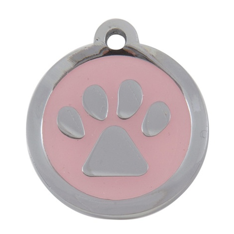 My Sweetie Light Pink Paw Pet ID Tag