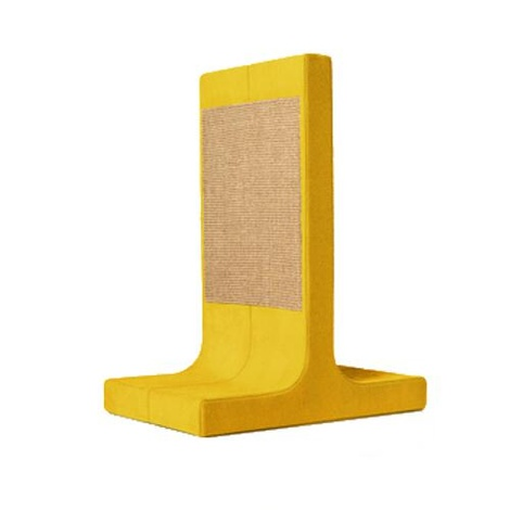 Scratching Post - Letter T - Yellow