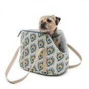Mutts & Hounds - Peacock Linen Dog Carrier