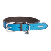 DO&G - DO&G Leather Dog Collar - Light Blue