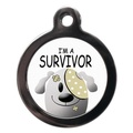Cute I'm A Survivor Pet ID Tag