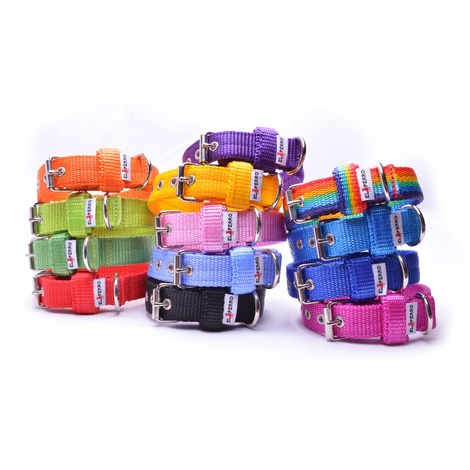 Double Dog Collar – Rainbow  2