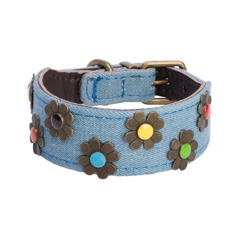 DO&G Boho Chic Dog Collar - Light Denim