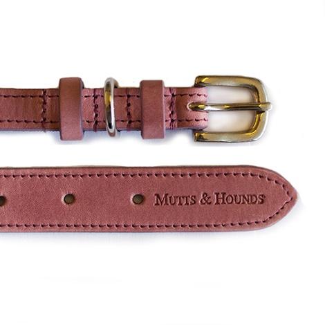 Heather Leather Dog Collar - Pastel Pink 2