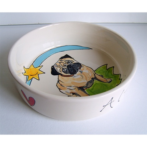 Large Personalised Dog Bowl 5