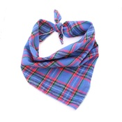 Pet Pooch Boutique - Tommys Blue & Red Plaid Bandana