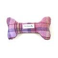 Pink Shetland Wool Dog Bone Toy
