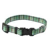 Yellow Dog - Tartan Plaid Dog Collar – Green
