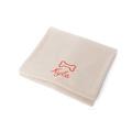 Personalised Cream Bone Dog Blanket - Italic font