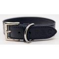 Leather dog collar (Rimini) - Midnight Blue 5