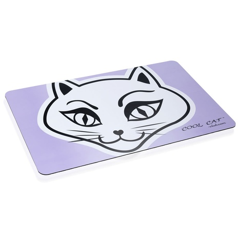Cool Cat Water & Food Cat Bowl Placemat