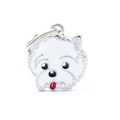 West White Highland Terrier Engraved ID Tag
