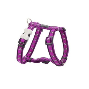 Pawprints Dog Harness - Purple