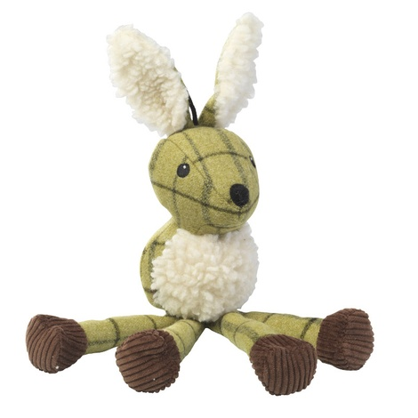 Green Tweed Long Legs Hare Dog Toy