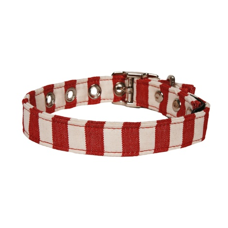 Red and White Stripe Collar