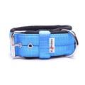4cm Width Fleece Comfort Dog Collar – Sky Blue