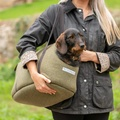Forest Green Tweed Dog Carrier 4