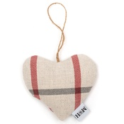 Mutts & Hounds - Nottingham Check Lavender Heart