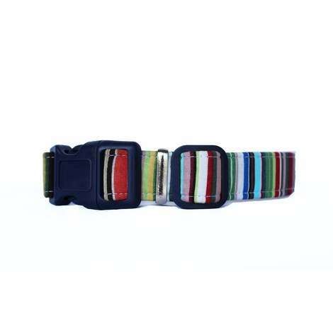 Deckchair Stripes Dog Collar