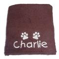 Personalised Pet Towel - Chocolate
