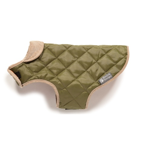 Quilted Dog Coat - Forest Green 2