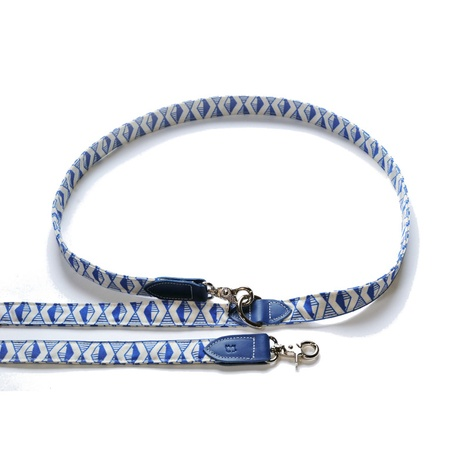 Blue Geo Hands-free Dog Lead