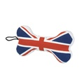 Union Jack Bone Squeaky Dog Toy