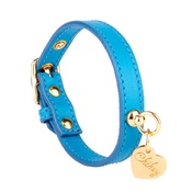 Chihuy - Light Blue and Gold Leather Collar