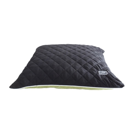 Quilted Cushion Dog Bed - Black & Green  2