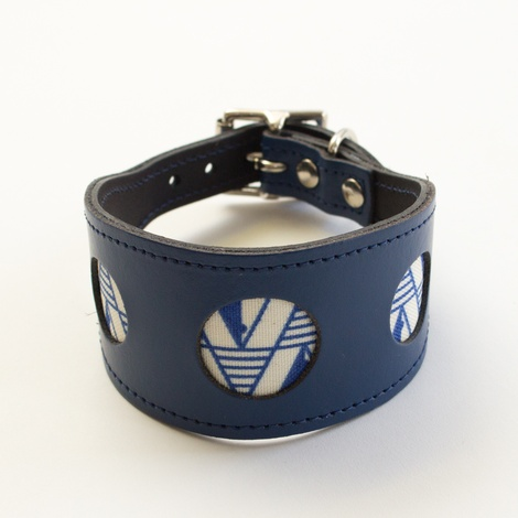 Geo Blue Hound Collar