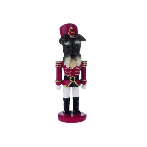 Uncropped Schnauzer Nutcracker Soldier Ornament