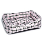 Pet Pooch Boutique - Pink Tartan Dog Bed