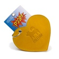 Leather Heart Poo Pouch – Acacia Yellow 3