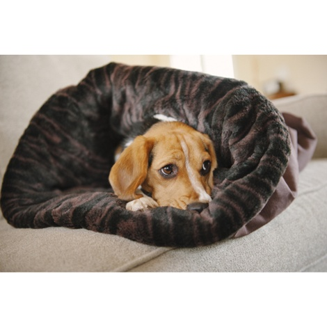 Snuggle Dog & Cat Bed - Truffle Brown 5